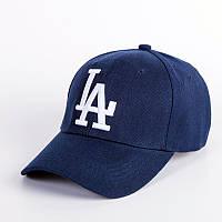 Бейсболка LA (Лос-Анджелес), Унисекс Синий