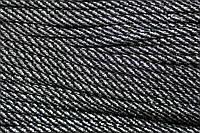 Шнур 5мм спираль (100м) черный+серебро , фото 1