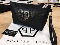 Барсетка-клатч Philipp Plein D1672 черная