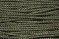 Шнур 5мм спираль (100м) черный+золото , фото 1
