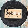 Пряжа трикотажная Bobilon 9-11 мм, цвет Графит