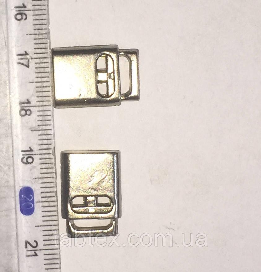 Фиксатор метал НК-103 плоский никель(100шт)