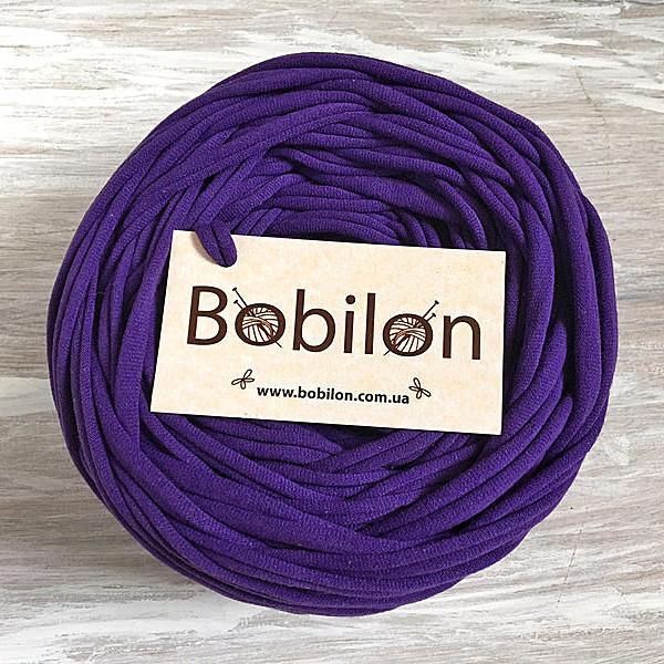 Пряжа трикотажная Bobilon 9-11 мм, цвет Фиолетовый