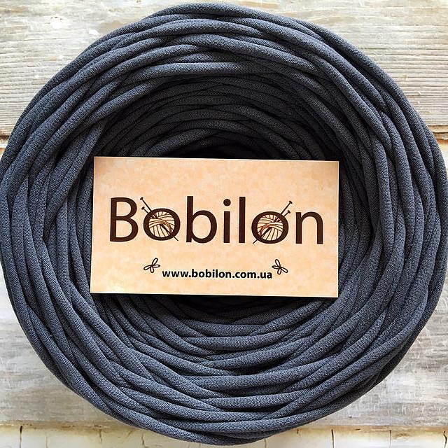 Пряжа трикотажная Bobilon 9-11 мм, цвет Серая мышка