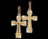 Золотой крестик из красного золота Киевский