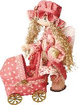 "Текстильная каркасная кукла ""Ангелок"", К1023"