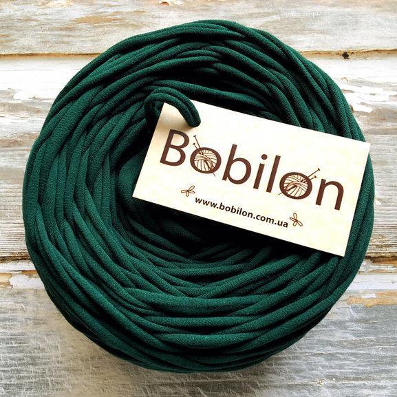 Пряжа спагетти Bobilon 9-11 мм, цвет Темно-зеленый