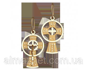 Золотой крестик из красного золота Архангельский