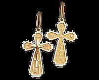 Золотой крестик из красного золота Римский