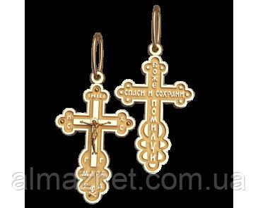 Золотой крестик из красного золота Балканский