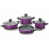 Набор посуды фиолетовый 7 предметов Lina Alu. Korkmaz A1298