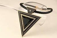 """Подвеска женская с камнем и стразами """"Треугольник"""", фото 1"""