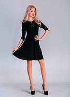 Платье рукав 3/4 спереди шнуровка 40,42,44,46,48 размеры