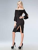 Платье с разрезом открытые плечи 38,40,42,44,46,48 размеры
