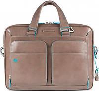 Солидный мужской портфель из натуральной кожи Piquadro Blue Square/D.Beige CA2849B2_TO2 бежевый