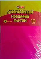 Картон цветной двухсторонний Неон А4 10 листов 50914-ТК 65264 Tiki Китай