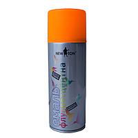 Аэрозольная флуоресцентная эмаль оранжевая New Ton 400 мл