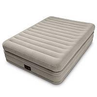 Велюр кровать 64444 с встроенным эл насосом 220В Intex