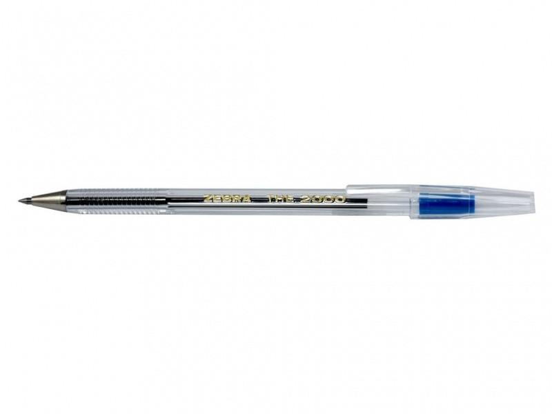 Ручка шариковая Zebra the 2000-BL синий The 2000 (Cristal)