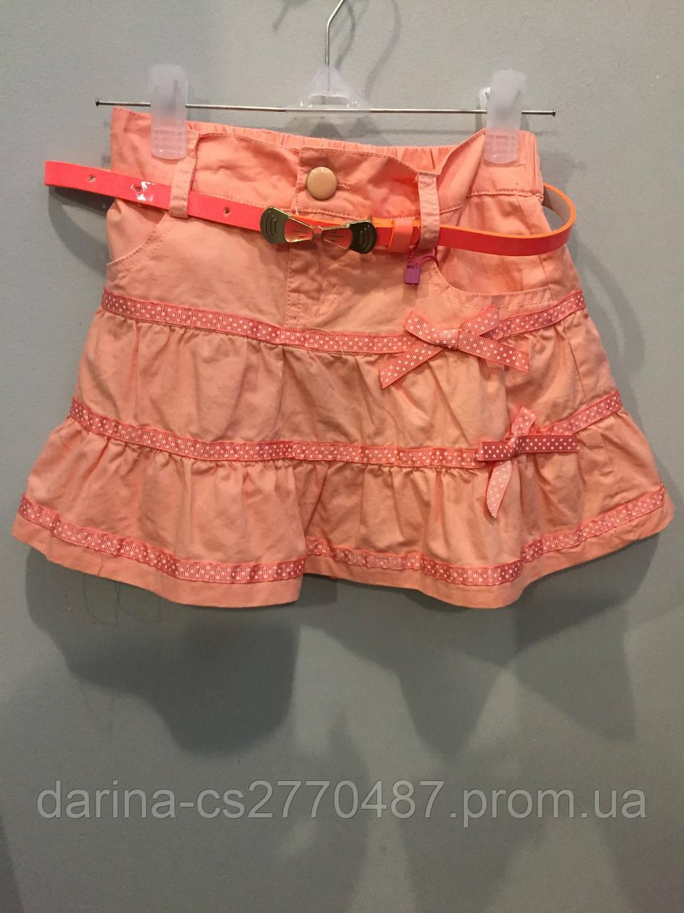 Коттоновая юбка для девочки 122, 140 см