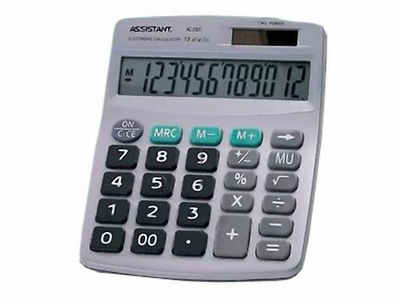 Калькулятор бухгалтерский Assistant АС-2320 черный 12 разряд, 152х120х39, пласт корп, пласт кн, фото 2