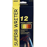 """Карандаши цветные Marco 4100-12CB 12цветов D2,9мм шестигранные """"SuperB Writer"""",  картонная коробка с подвесом"""
