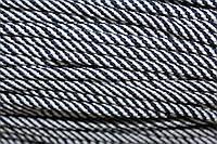 Шнур 5мм спираль (100м) т.синий+белый, фото 1