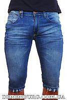 Мужские джинсовые бриджи DARK BLUE 1038 синие