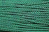 Шнур 5мм спираль (100м) черный+зеленый (трава)