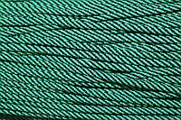 Шнур 5мм спираль (100м) черный+зеленый (трава), фото 1