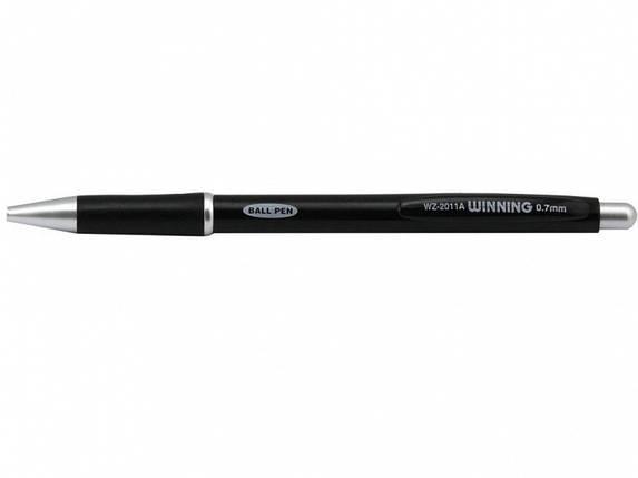 Ручка шариковая Winning WZ2011A синий 0.7 мм ассорти, автоматическая непрозрачная цветная, резиновый гриппп, фото 2