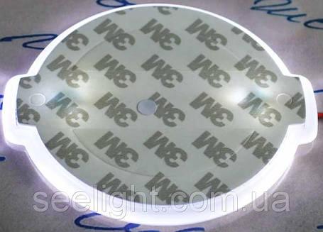 Автомобильный логотип Nissan 10.6*9см. светящаяся подкладка, белый, фото 2