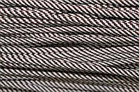 Шнур 5мм спираль (100м) коричневый (шоколад)+ белый , фото 1