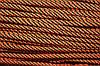 Шнур 5мм спираль (100м) оранжевый + черный