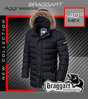 Зимняя длинная мужская куртка