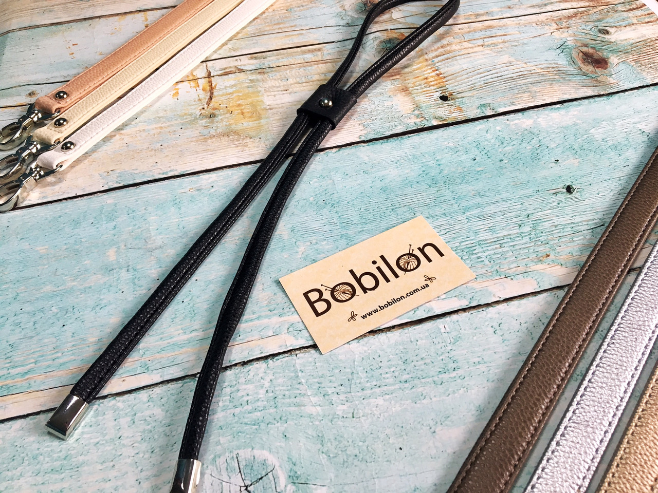 Затяжка для сумки (еко-шкіра). Колір Чорний
