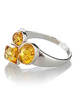 Кольцо из серебра с янтарем, фото 1