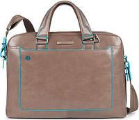 Прочный мужской портфель из натуральной кожи Piquadro BL SQUARE/D.Beige CA3335B2_TO2 бежевый
