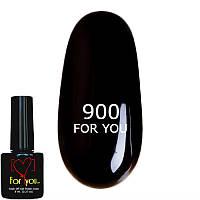 Гель лак Черный, эмаль FOR YOU № 900