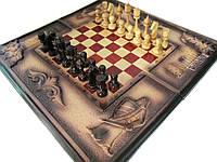 Шахматы,шашки,нарды в резьбе, фото 1