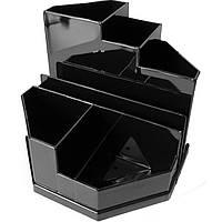 Подставки для ручек Спектр ПН-3ч черный 8 отделений черн. пласт.