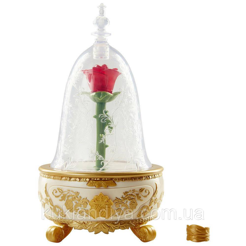 Музыкальная шкатулка с розой Красавица и чудовище
