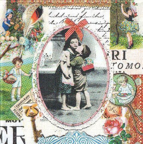 Салфетка декупажная Детская любовь 2934 (пачка 10)