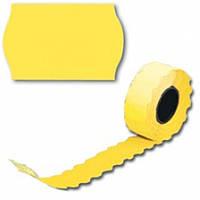 Ценник рулонный желтый А12(26х12),2,5м 208шт, фигурн