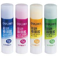 Клей-карандаш Deli 7119 микс 8гр цветной PVР для рисования