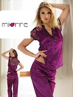 Сатиновый женский пижамный костюм