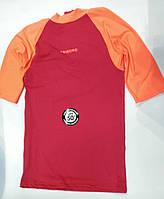 Лайкровая футболка для плавания Tribord; короткий рукав; малиновая