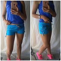 Женские шорты голубые