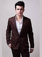 Мужской пиджак приталенный стильный практичный