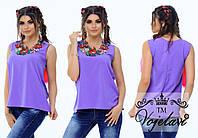 Женская стильная блузка с вышивкой  ОА480